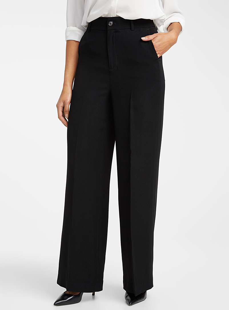 Contemporaine Dark Brown Fluid wide-leg pant for women