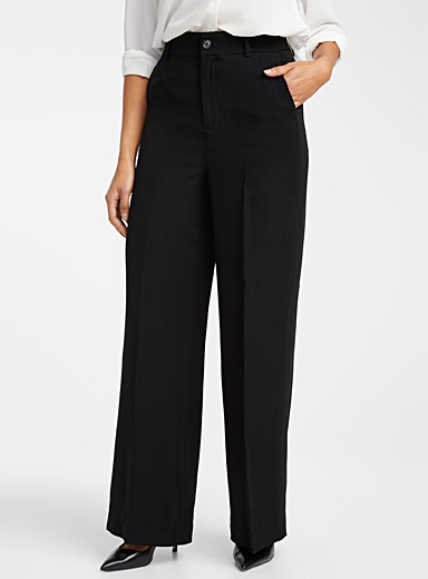 Contemporaine Black Fluid wide-leg pant for women