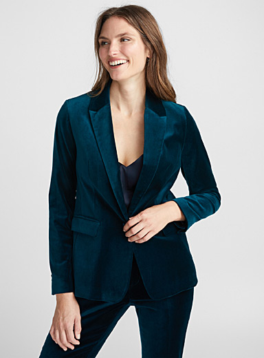 Satiny velvet jacket
