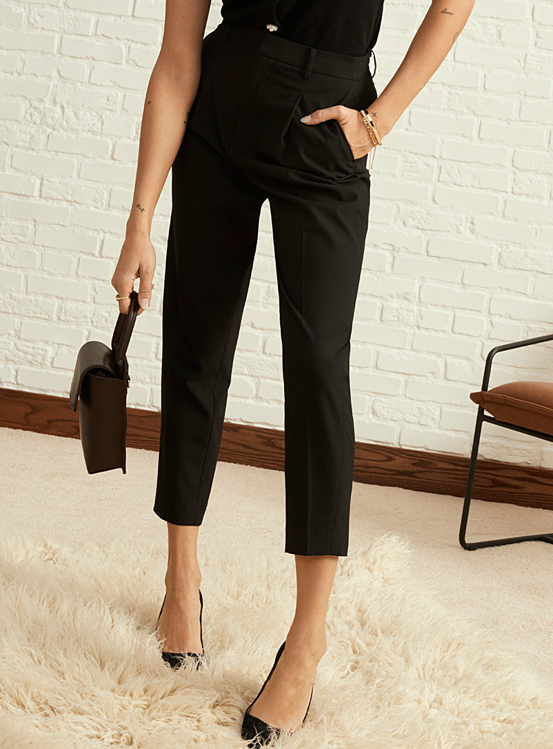 Icône Black Chic recycled polyester suit pant for women