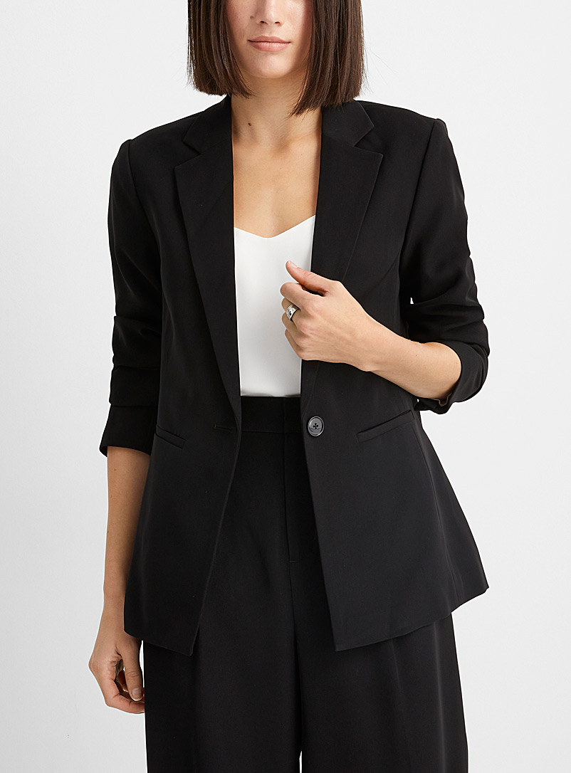 Contemporaine Black Soft single-button blazer for women