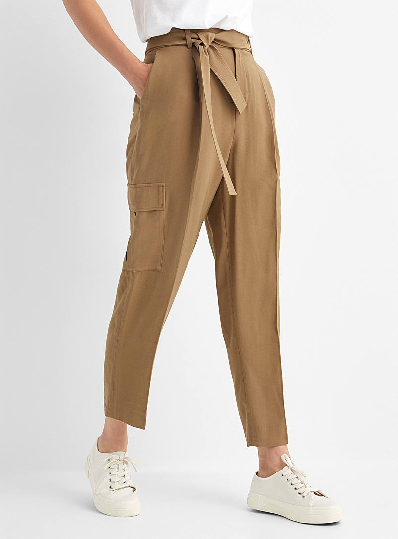 Contemporaine Toast Soft twill cargo pant for women