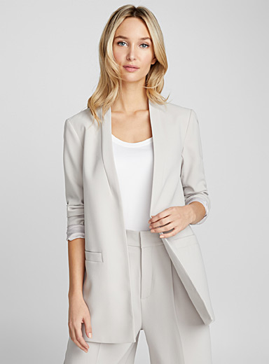 Long open jacket