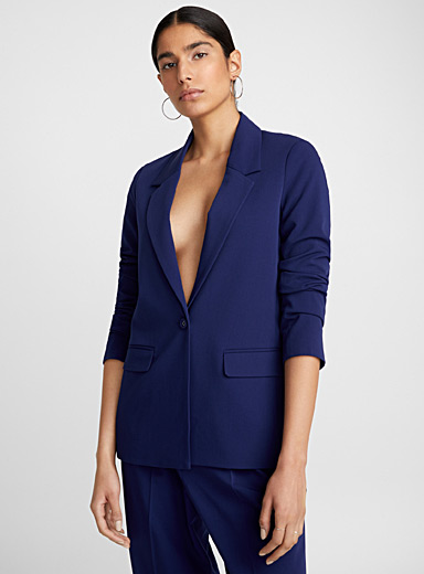 Straight minimalist jacket