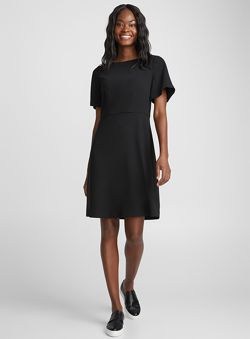 Fluid fit-and-flare dress - Fit & Flare - Black