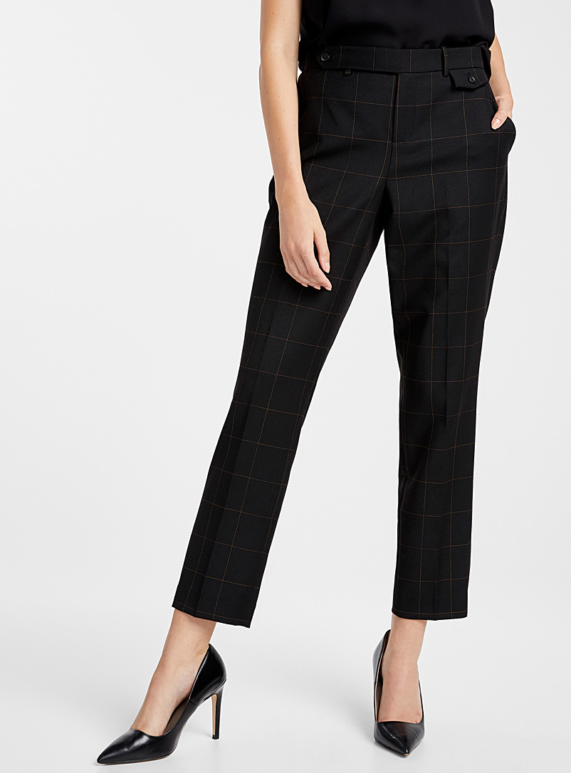 windowpane-check-semi-slim-pant