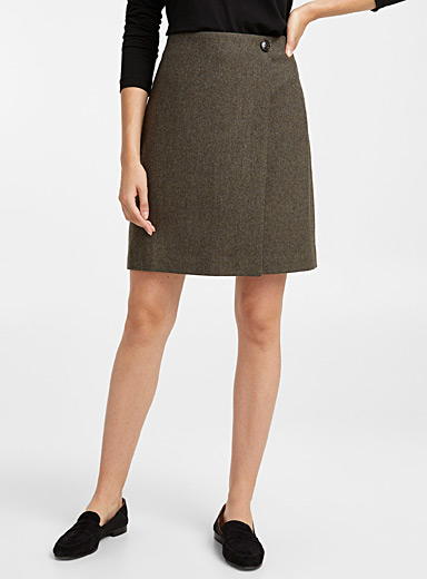 Fine wool wrap skirt