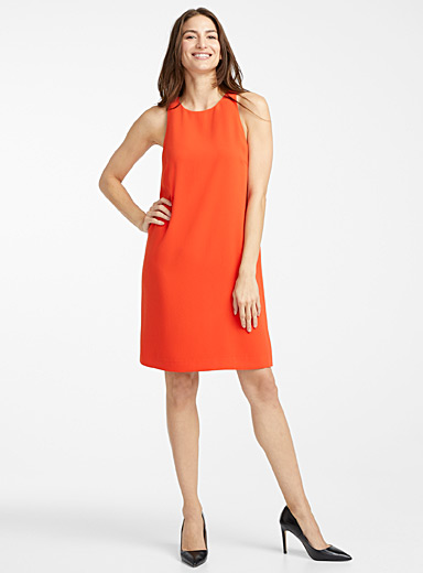 Cutaway shoulder minimalist dress