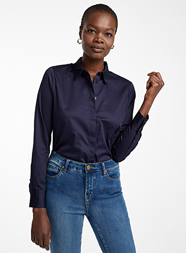 Polished poplin organic cotton shirt