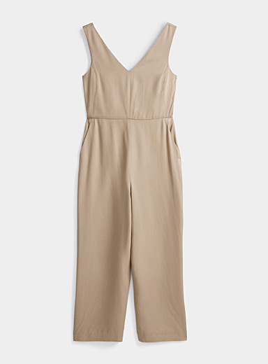 Contemporaine Fawn TENCEL* Lyocell tie-waist jumpsuit for women