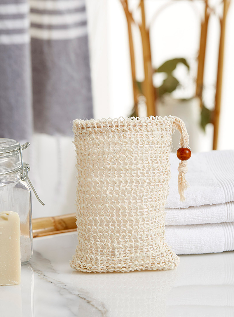 Au Naturel Ecru/Linen Soap saver pouch