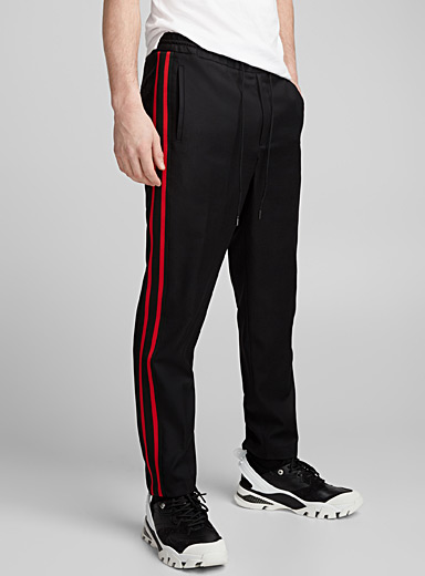 Striped band pant