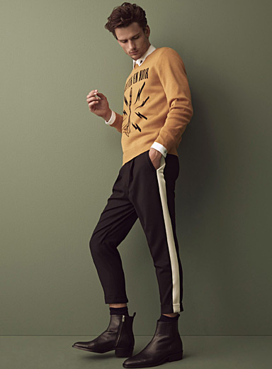 Side band wool pant