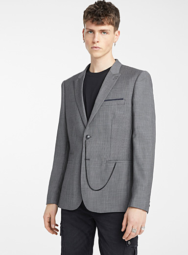 The Kooples: Le veston Crossed Squares Gris pour homme