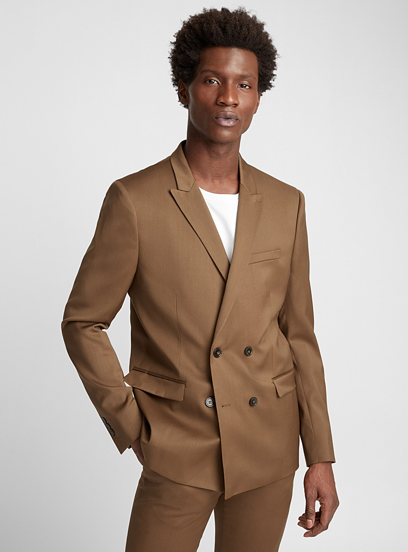 Double-breasted brown jacket - The Kooples - Honey