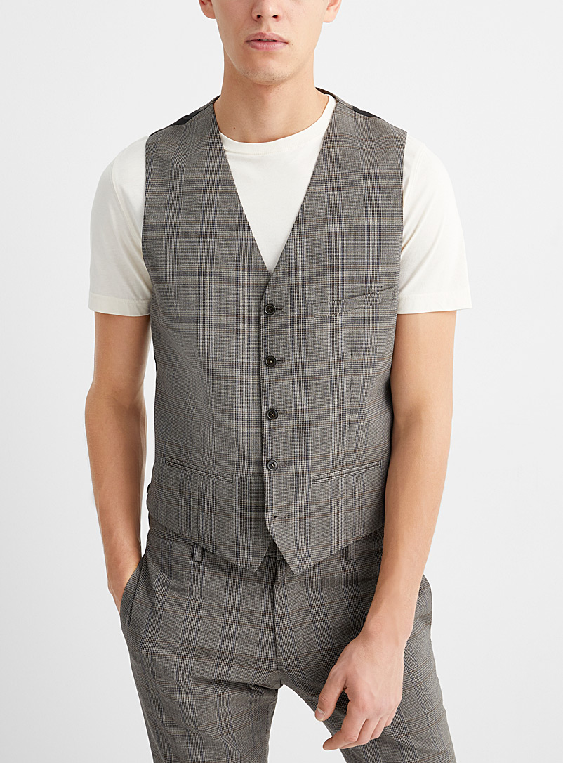 The Kooples Grey Prince of Wales jacket for men