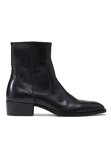 Smooth leather Western boots