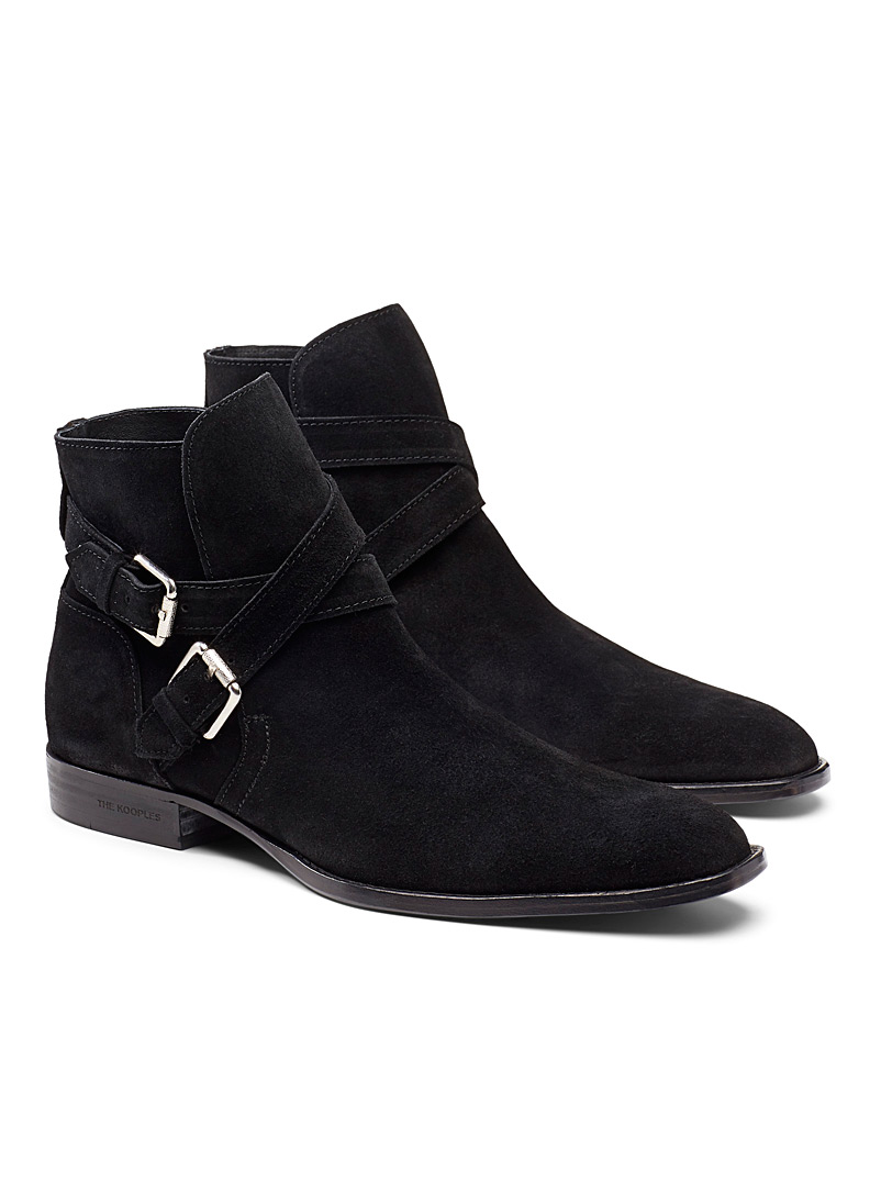 The Kooples Black Suede Jodhpur boots  Men for men