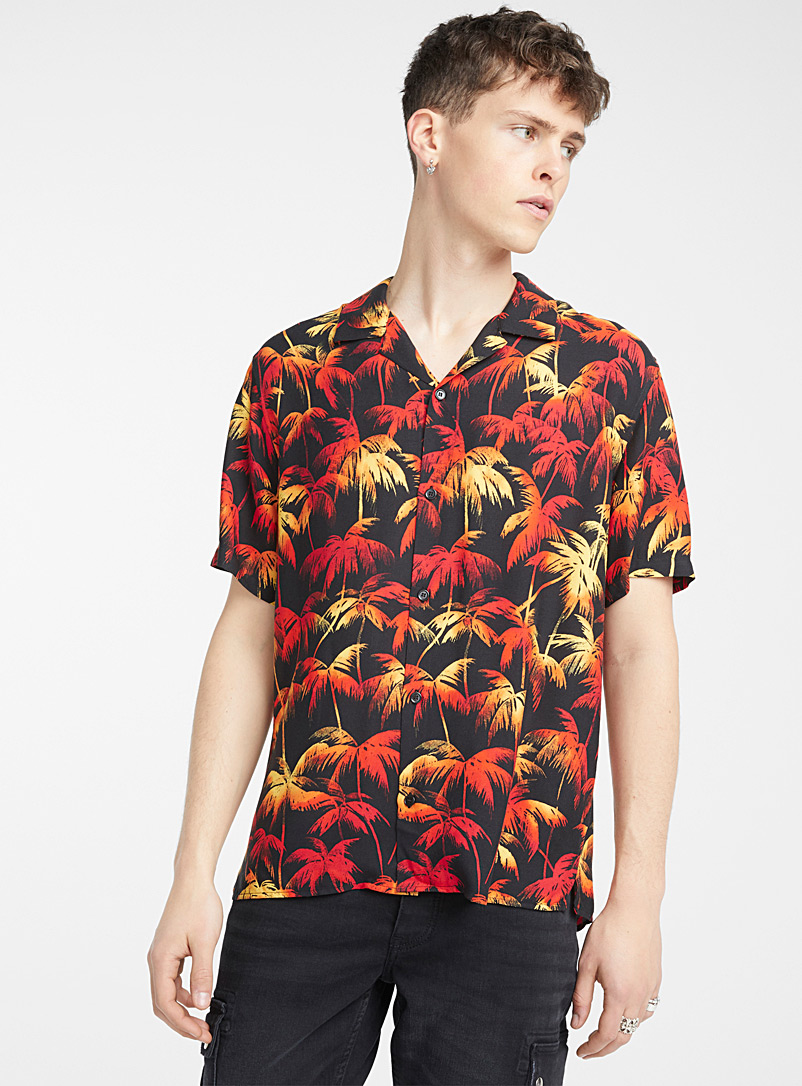 The Kooples Black Palm shirt for men