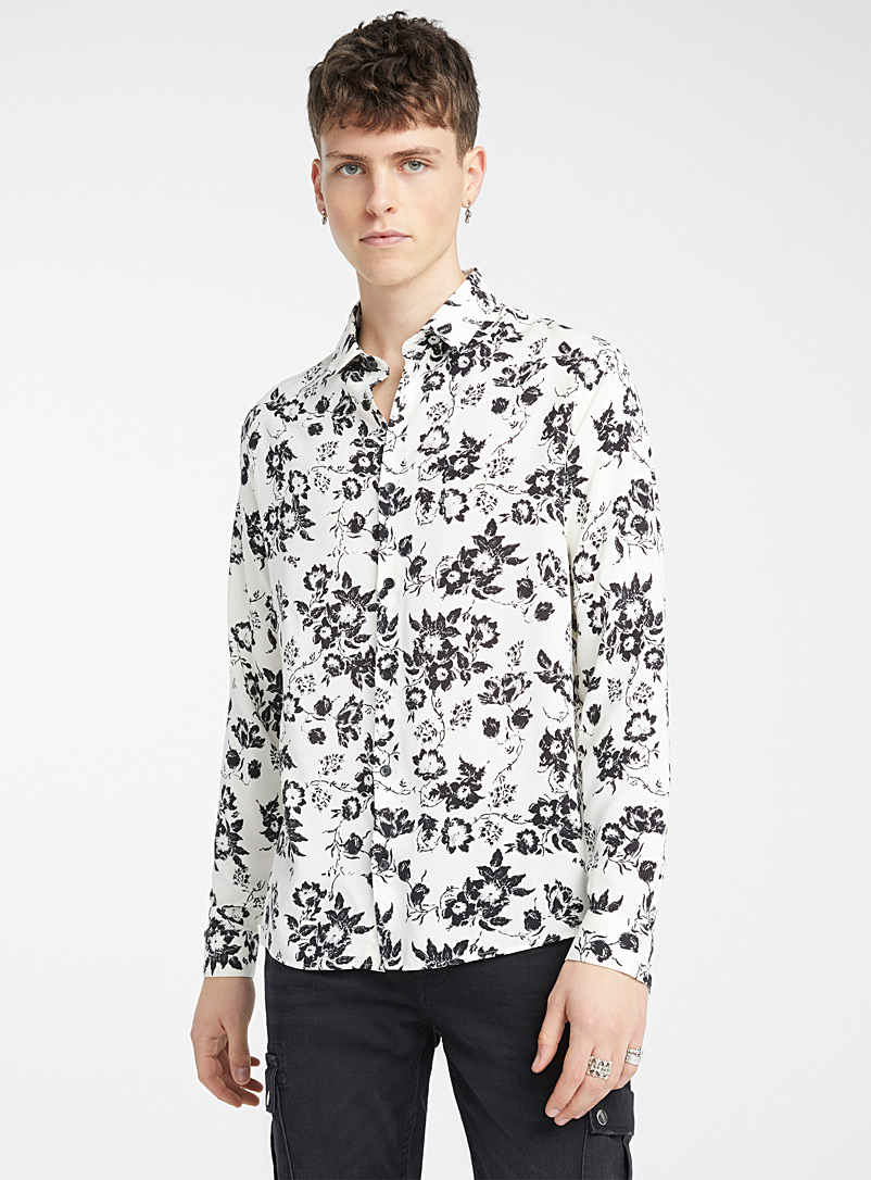 The Kooples White Midnight Bouquet shirt for men