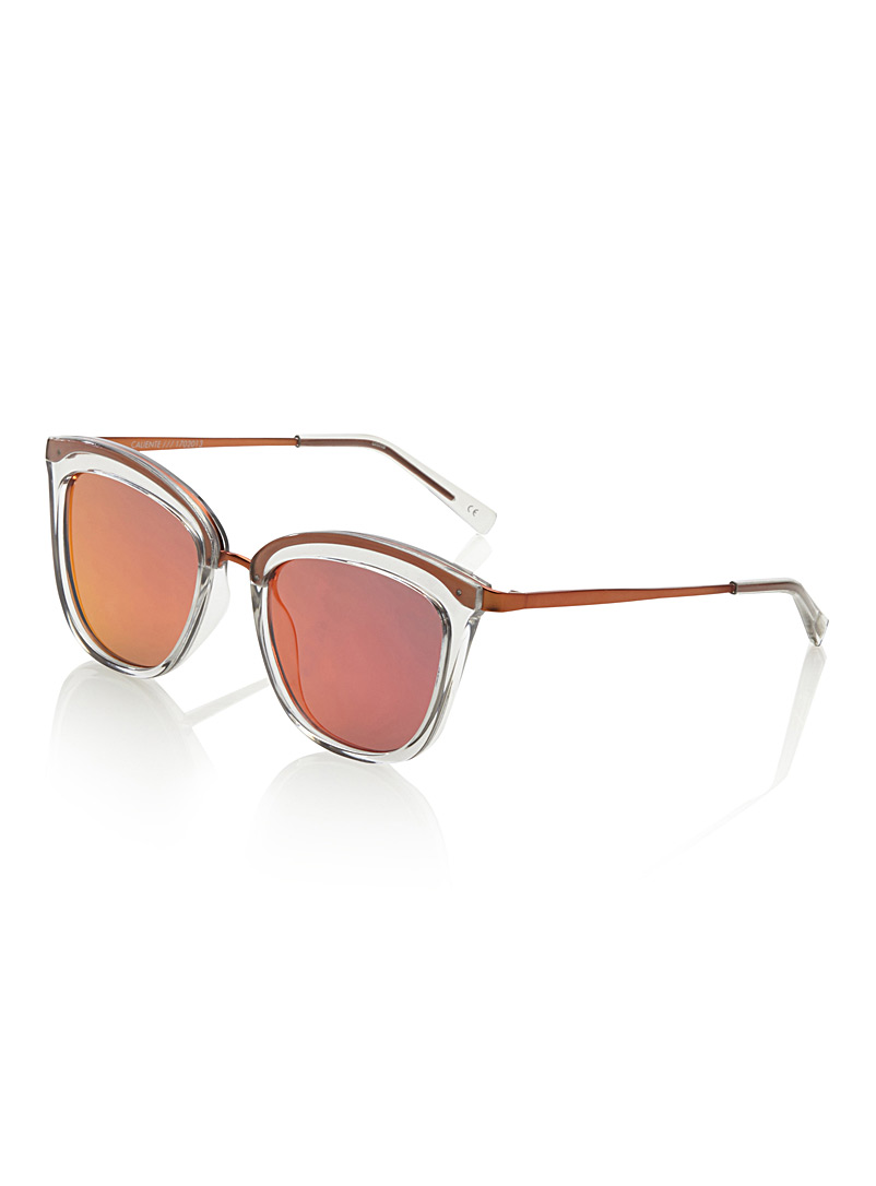 Caliente cat-eye sunglasses - Cat Eye - Cream Beige