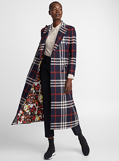 English plaid overcoat