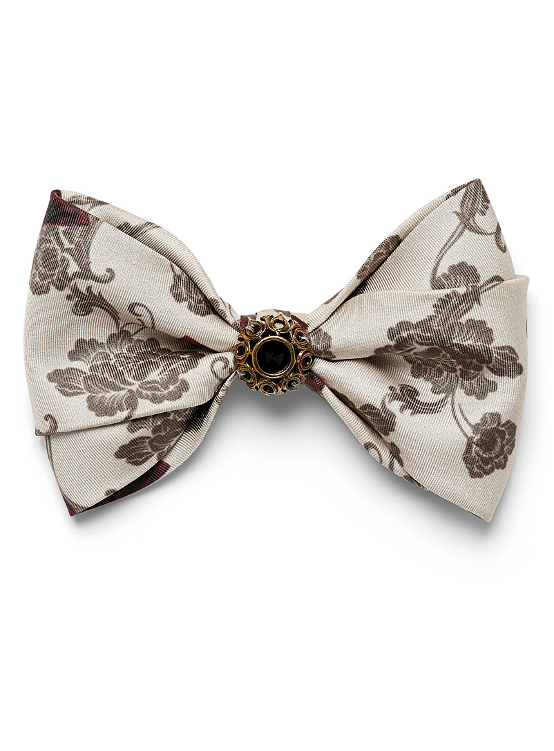 Mani del Sud Sand Obscure jewel floral bow tie for men