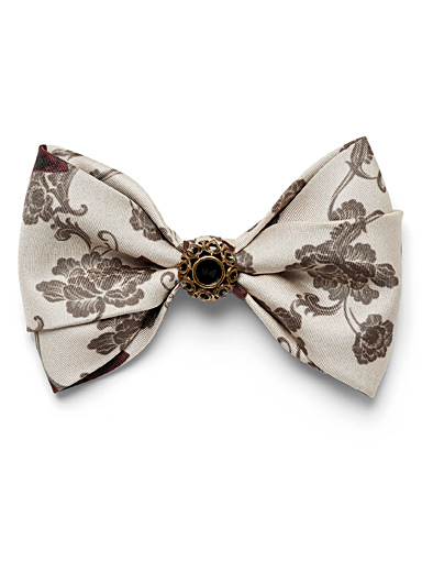Obscure jewel floral bow tie