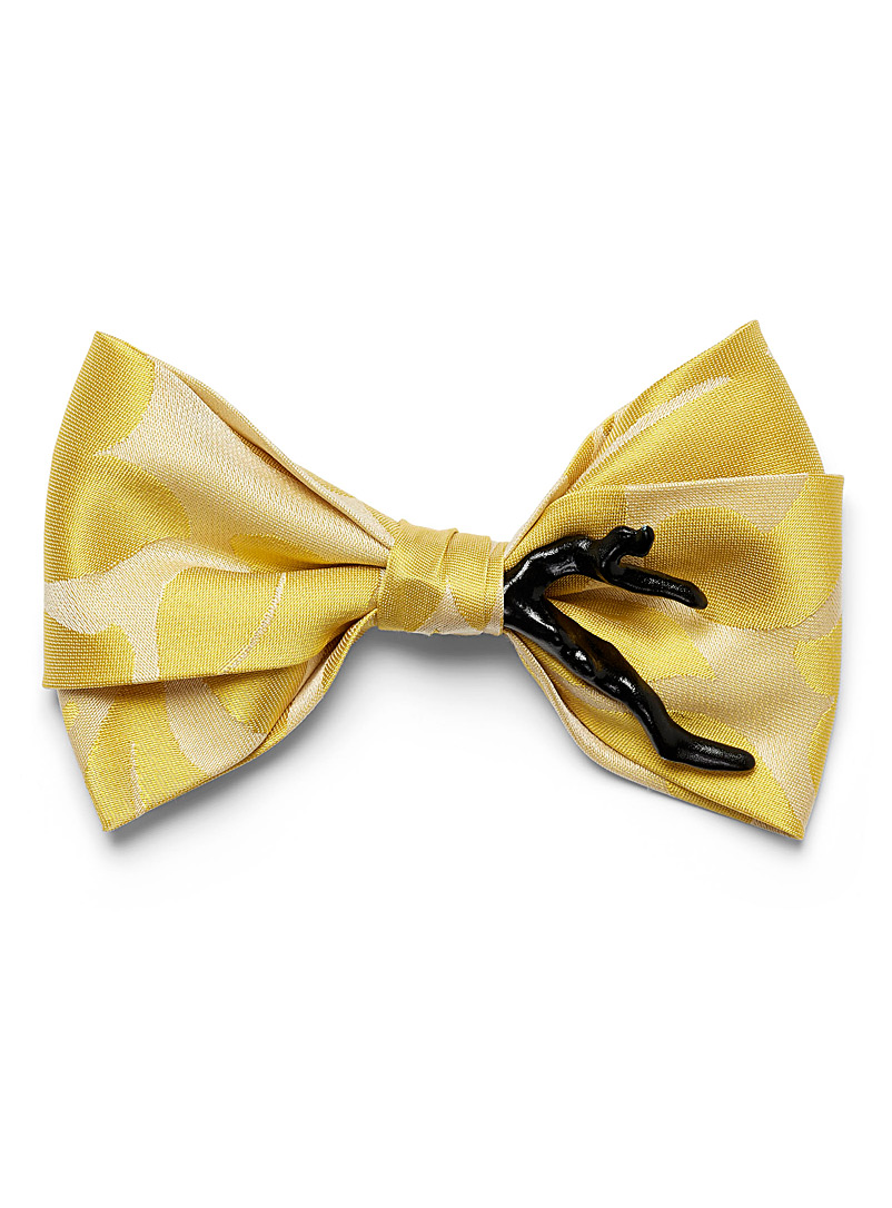 Mani del Sud Golden Yellow Contrasting branch bow tie for men