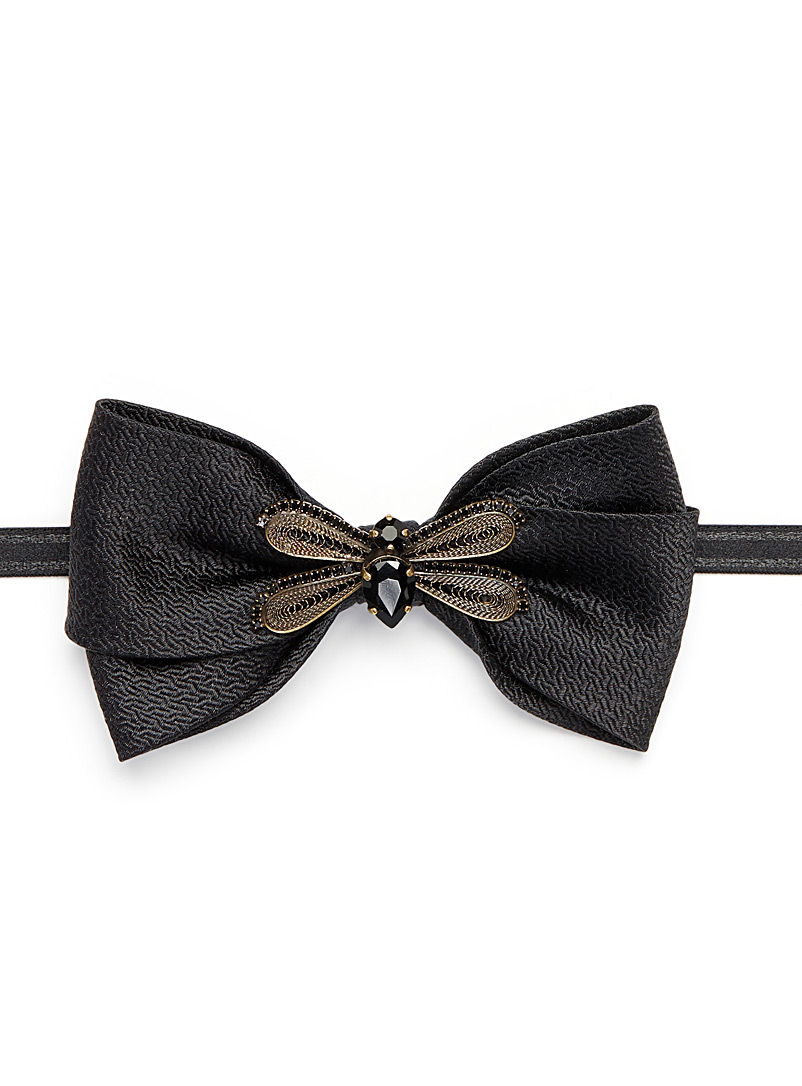 Precious bee bow tie - Bow Ties - Black
