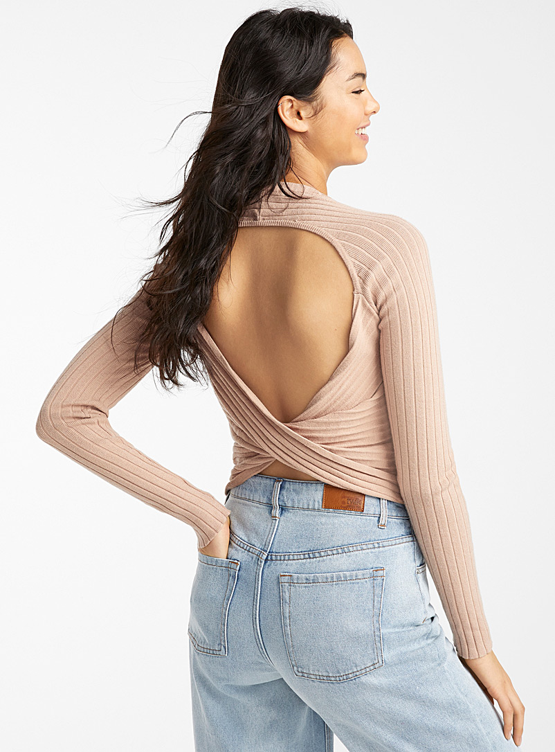 open-back-ribbed-sweater