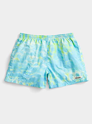 Ovadia Patterned Blue Main swim short for men