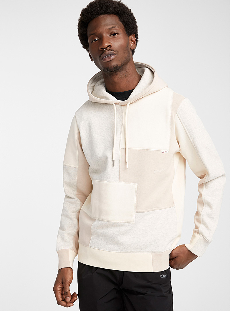 Ovadia Cream Beige Patchwork sweatshirt for men