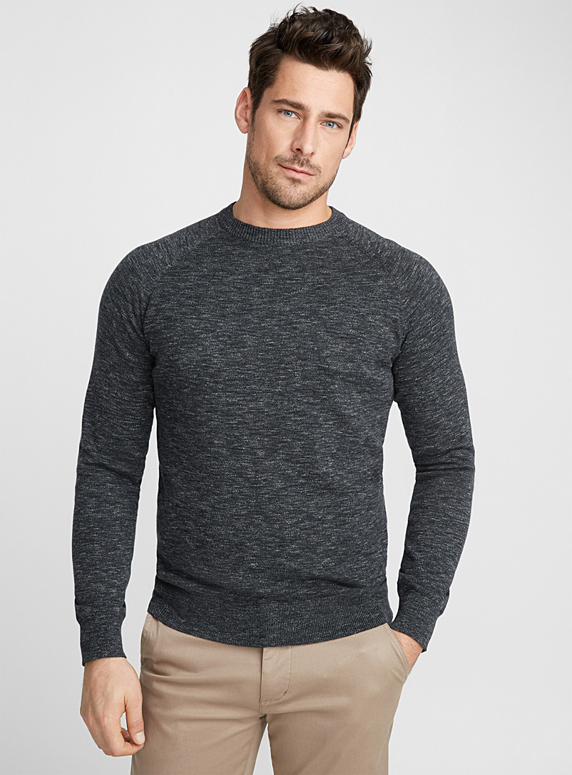 Basic crew-neck sweater - Cotton - Oxford