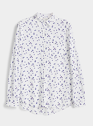 Fluid stylish pattern shirt