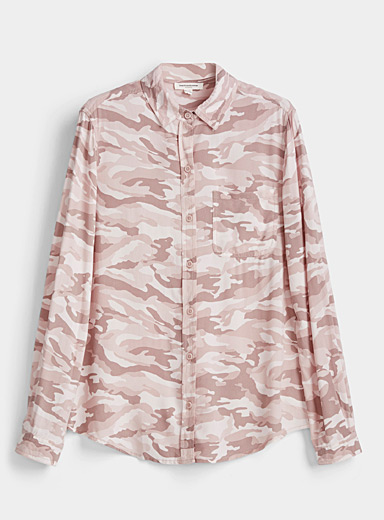 Contemporaine Dusky Pink Fluid stylish pattern shirt for women