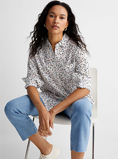 Delicate floral shirt