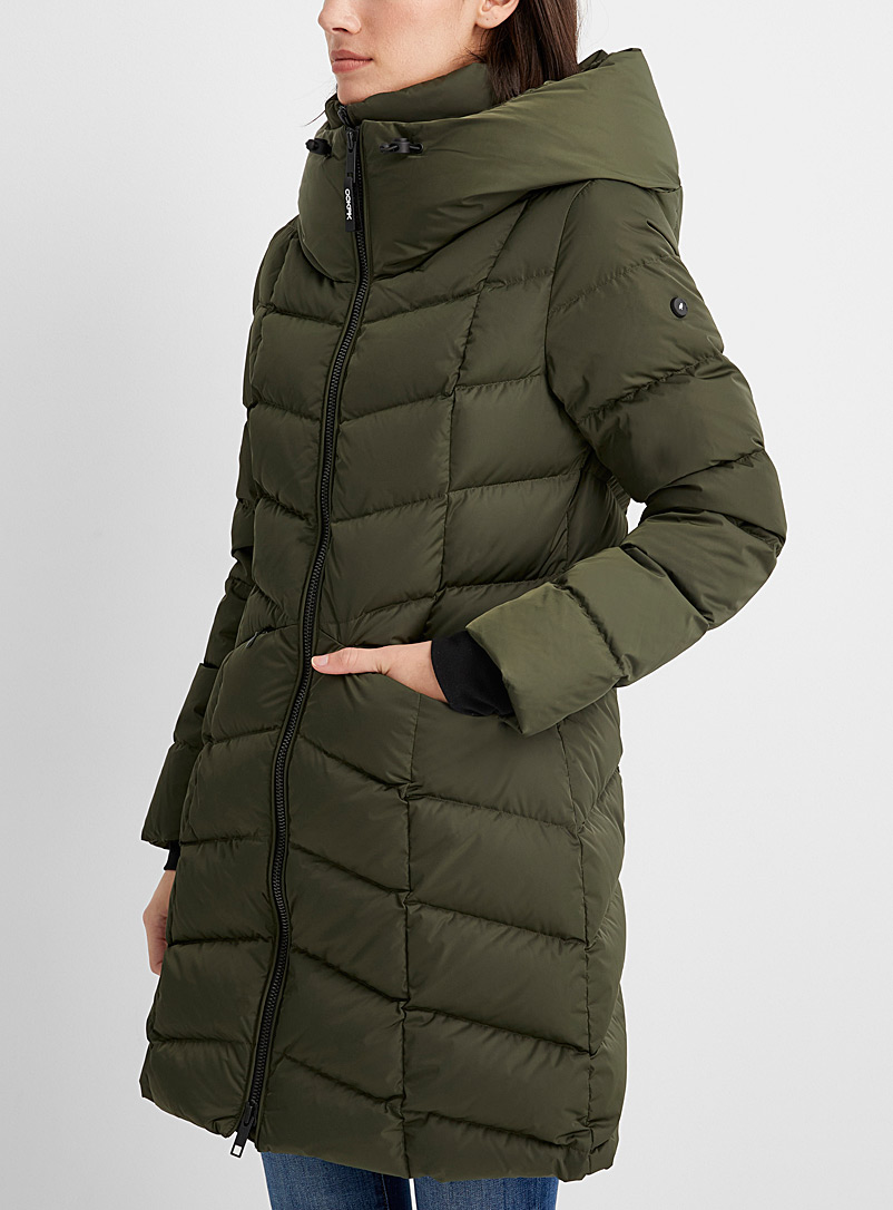 Ookpik Green Macha quilted parka for women