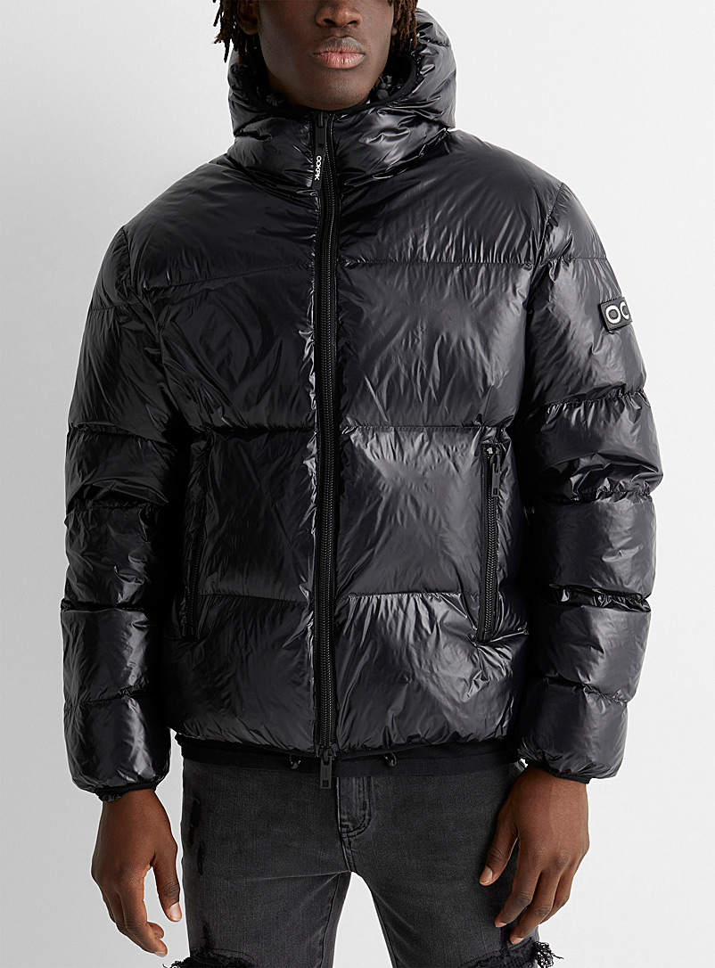 Ookpik Black Torino shiny puffer jacket for men