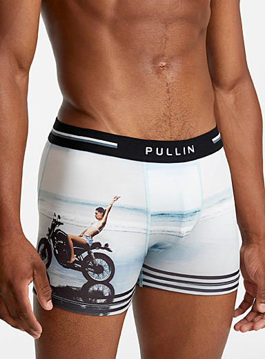 Motorcycle beach boxer brief