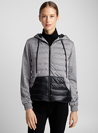 Star two-tone quilted jacket