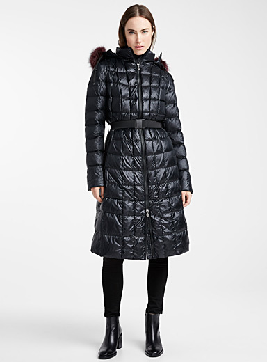 Olivier check-quilted puffer jacket