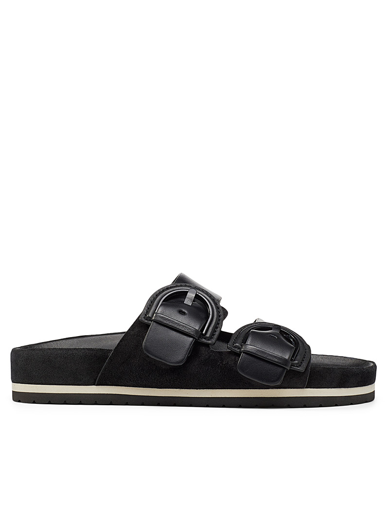 Vince Black Glyn leather sandals for women