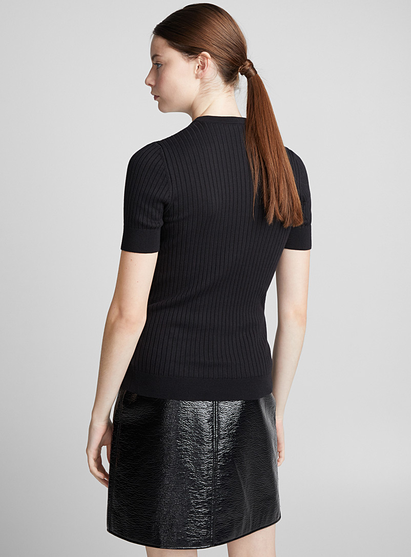 Courrèges Black Short-sleeve sweater for women