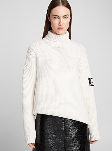 Le pull point mousse