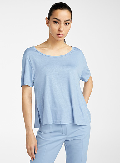 Courrèges Slate Blue Oversized T-shirt for women