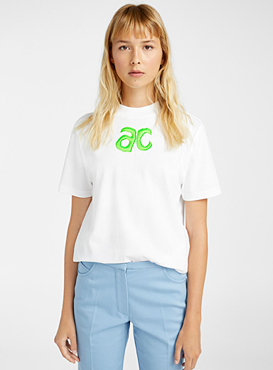 Courrèges White AC logo T-shirt for women