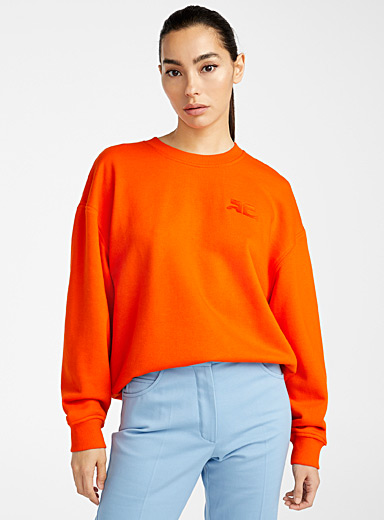 Courrèges Orange Iconic sweatshirt for women