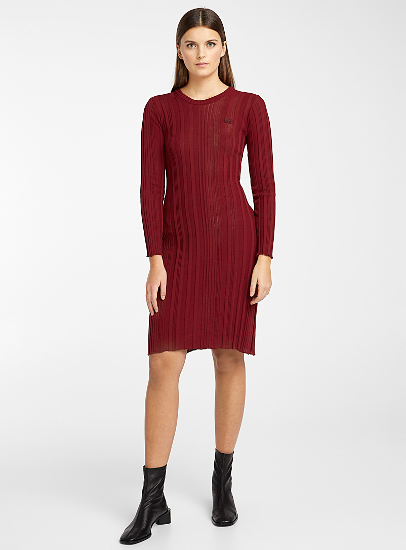 Courrèges Ruby Red Iconic midi dress for women