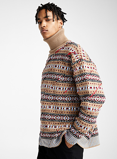 Jacquard turtleneck sweater
